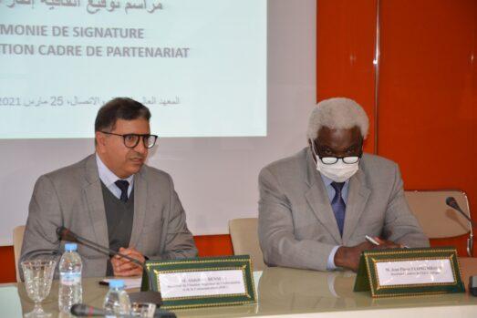 Signature d'une Convention-cadre de Partenariat<br>entre CGLU Afrique et l'ISIC